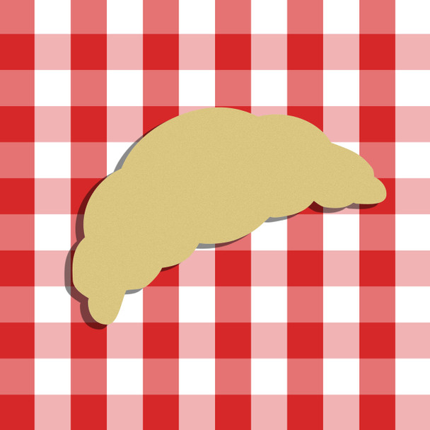 Croissant Unfinished Cutout, Wooden Shape, Paintable Wooden MDF