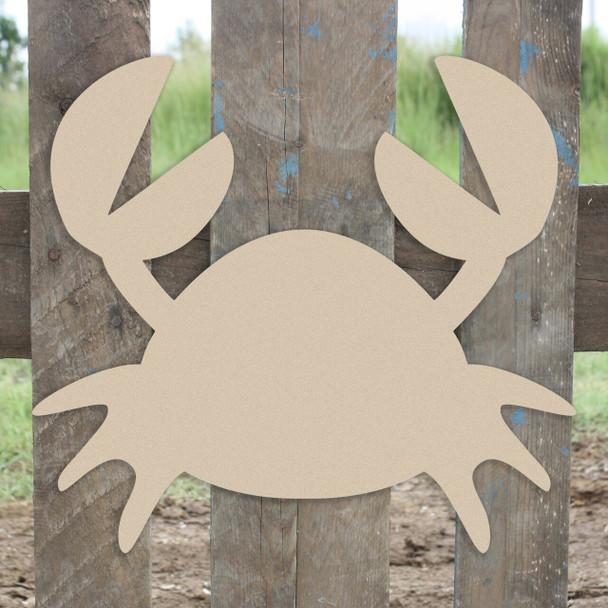Nautical Decor Mr Crabs Unfinished Cutout