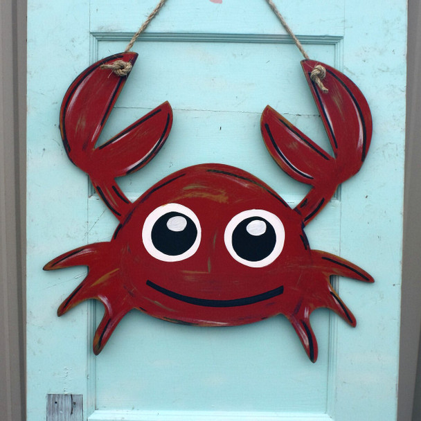 Nautical Decor Mr Crabs Unfinished Cutout Paintable