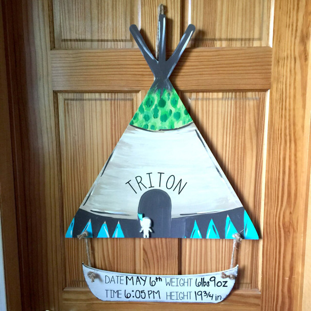 Teepee2 Unfinished Cutout Paintable Wooden MDF
