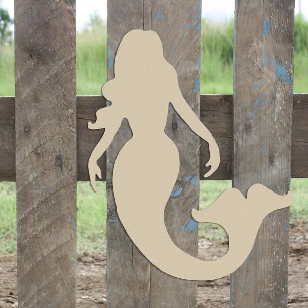 Mermaid2 Unfinished Cutout