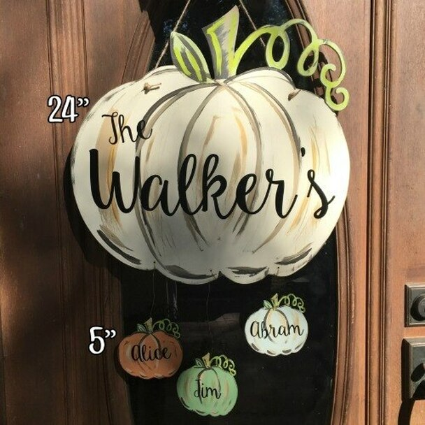 Pumpkin with vine 24 inch Unfinished Cutout wall decor