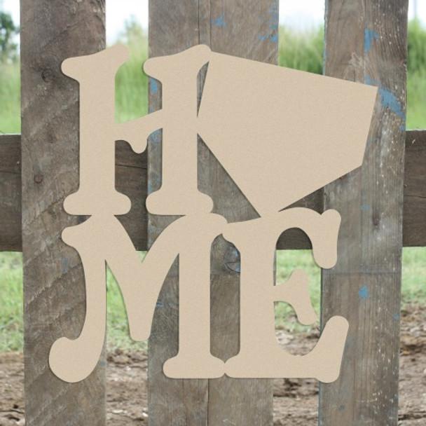 Home Baseball Homeplate Sign Wall Art Wooden DIY Craft MDF