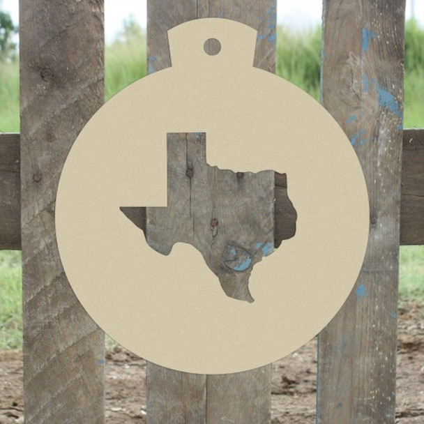 State Christmas Ornament, Choose Your State, Unfinished Cutout, Wooden Shape