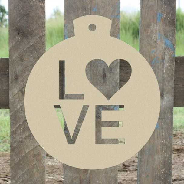 Christmas Ornament Love Unfinished Cutout