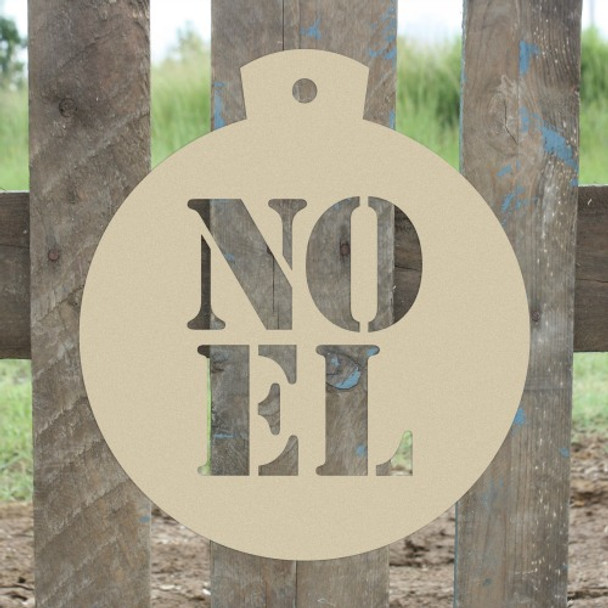 Christmas Ornament Noel  Unfinished Cutout, Wooden Shape
