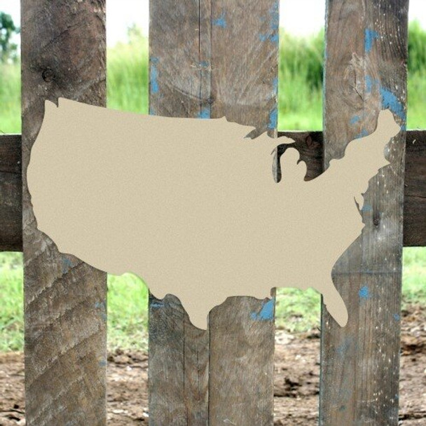 United States of America Unfinished Cutout