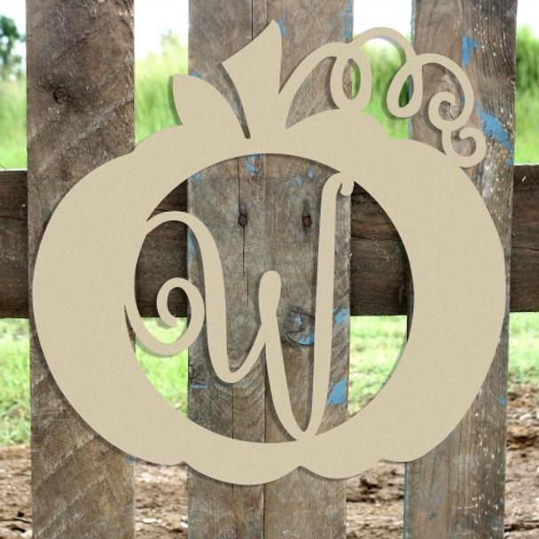 Frame Ballerina Script Letter, Pumpkin Wooden - Unfinished  DIY Craft