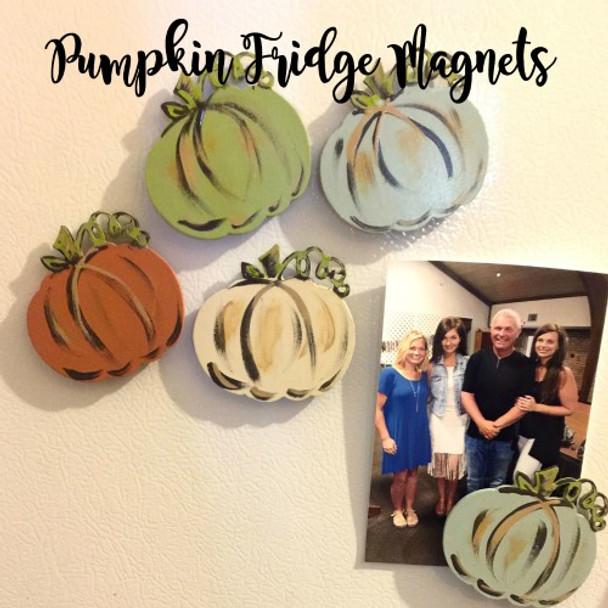 Curly Stem Pumpkin Fridge Magnets Cutout Blog