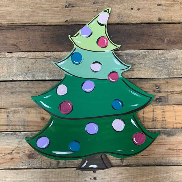 Whimsical Christmas Tree Cutout DIY Craft