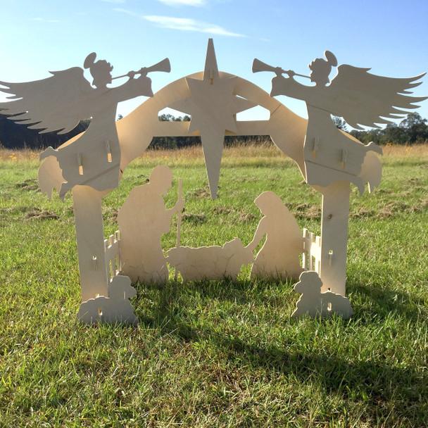 Nativity Set (Main Set)  Yard Art 1/2'' Birch Christmas Decor