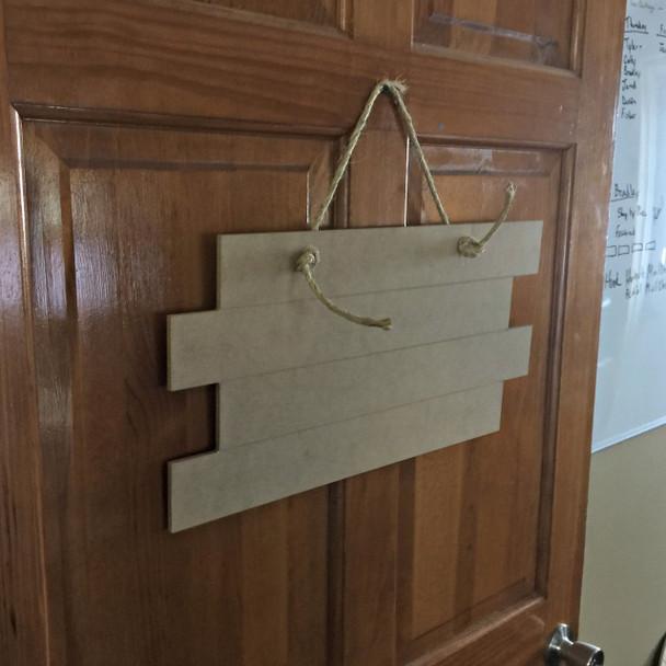 10'' x 17'' Four Panel Door Hanger 1/4'' Shiplap wall decor