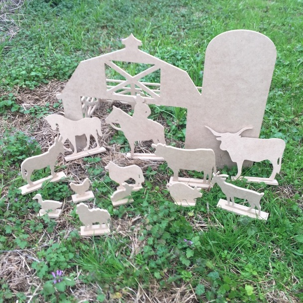 Free Standing Farm Kit, Unfinished kids play set