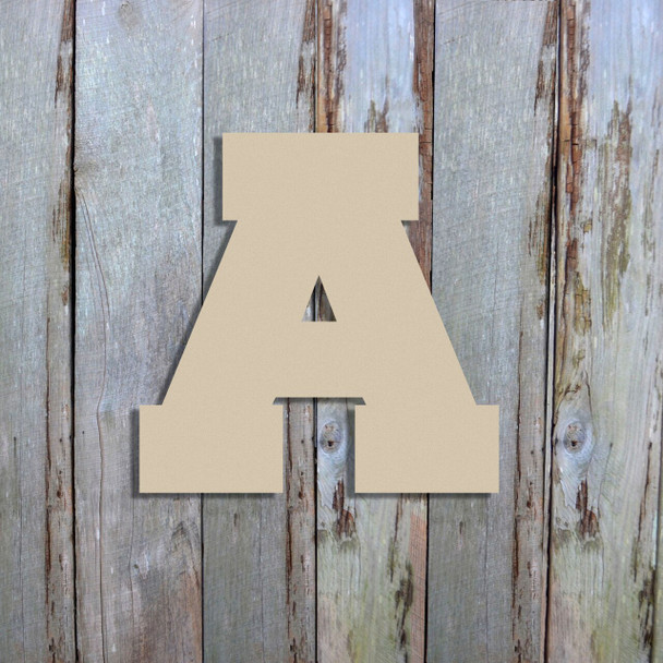 Unfinished Wooden Hanging Letters