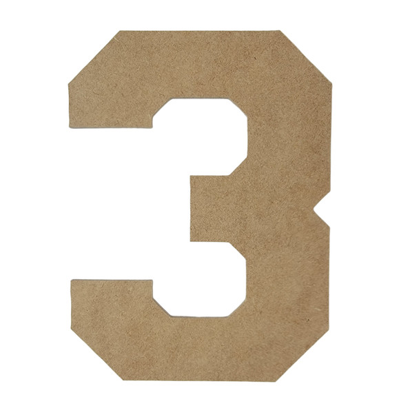 Unfinished Wooden Wall Letters and Numbers, Collegiate Font