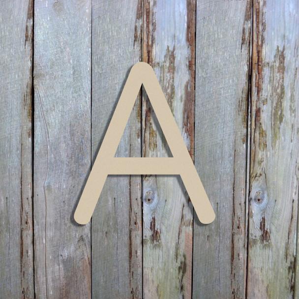 Unfinished Wooden Custom Wood Letters For Nursery KG