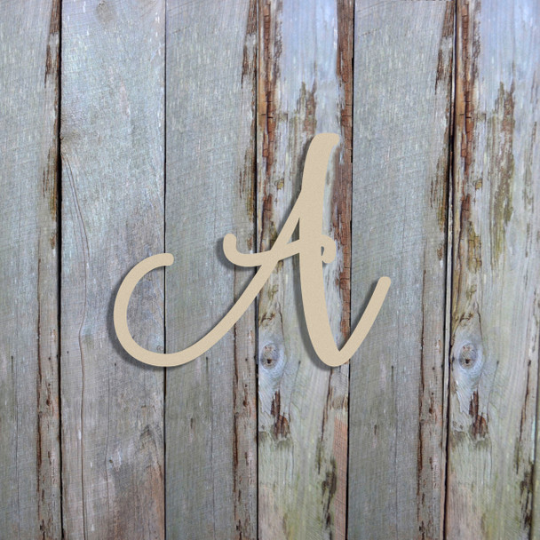 Unfinished Wooden Alphabet Letter Wall Decor (Fairybells) Wood Letters