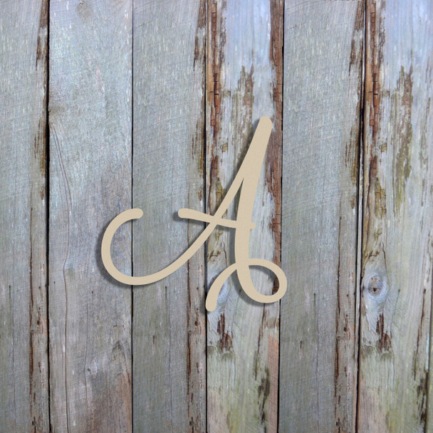 Unfinished Initial Wood Decorative Letters