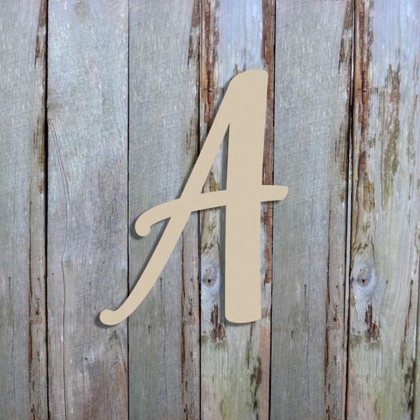 Unfinished Wooden Alphabet Letter