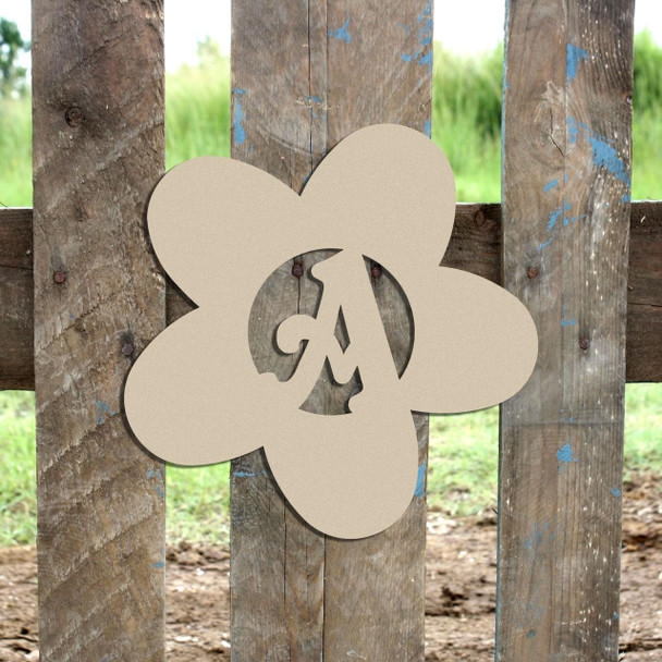 Daisy Monogram Beltorian Letter Wooden - Unfinished  DIY Craft