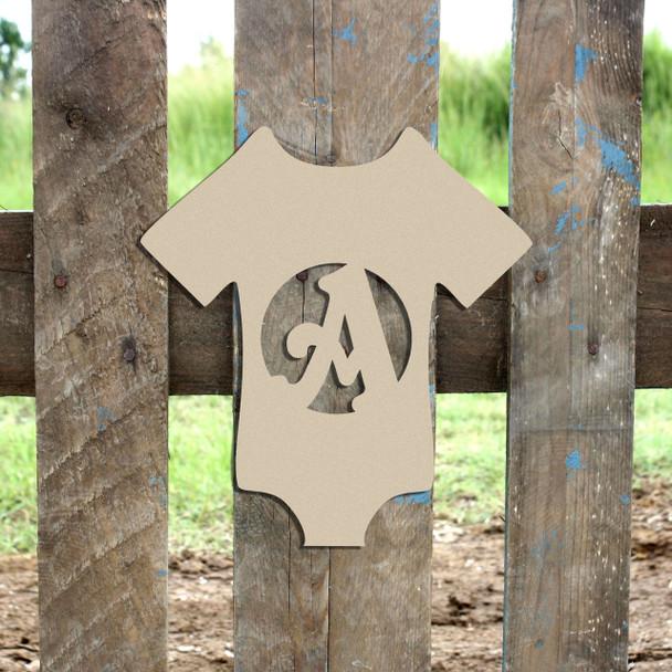 Onsie Monogram Beltorian Letter Wooden - Unfinished  DIY Craft