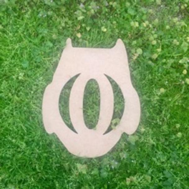 Owl Monogram Beltorian Letter Wooden - Unfinished  DIY Craft
