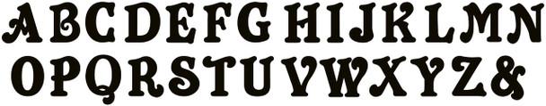 Icecream Cone Monogram Beltorian Letter Wooden - Unfinished  DIY Craft