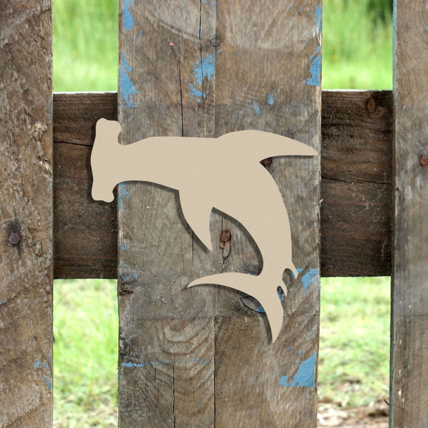 Hammerhead Shark Unfinished Cutout, Wooden Shape, Paintable Wooden MDF