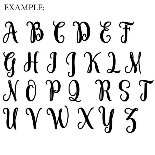 Cotton Frame (Freestyle) Monogram Letter Wooden Unfinished DIY Craft