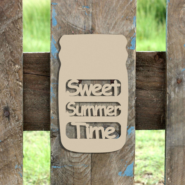 Mason Jar Frame Sweet Summer-Time, Letter Frame Wooden Unfinished
