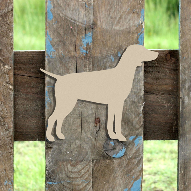 German Pointer Unfinished Cutout, Wooden Shape,  Paintable MDF DIY Craft