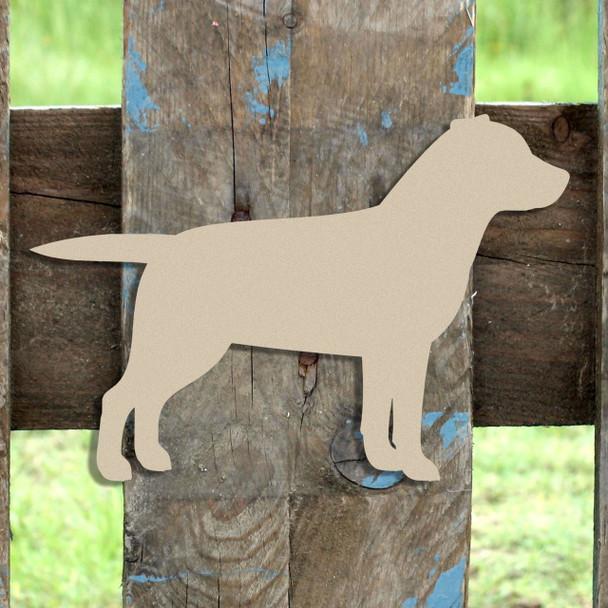Lab, Labrador Retriver Unfinished Cutout, Wooden Shape,  Paintable MDF DIY Craft