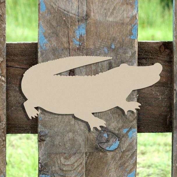Alligator 2 Unfinished Cutout, Wooden Shape,  Paintable MDF DIY