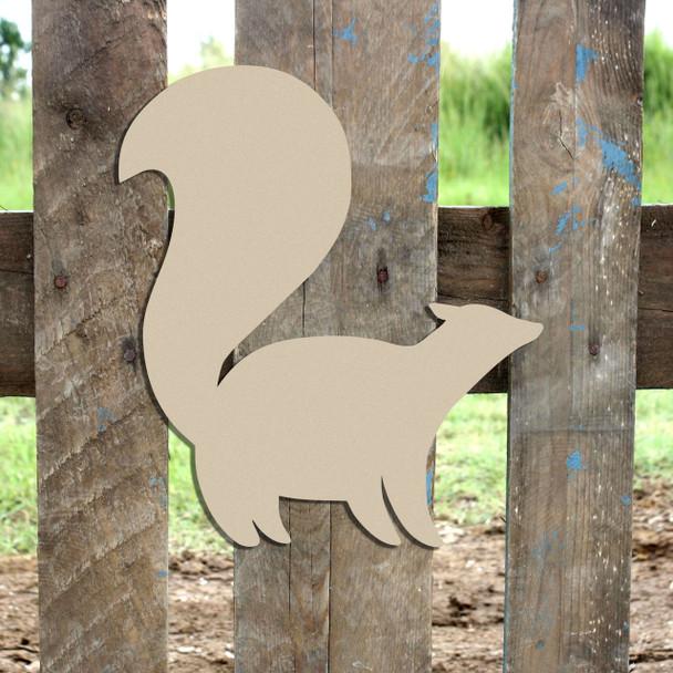 Woodland Skunk Unfinished Cutout, Wooden Shape,  Paintable MDF DIY