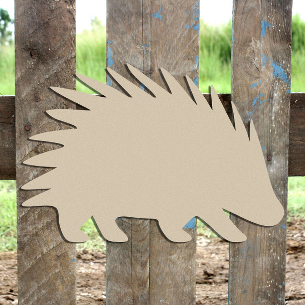 Woodland Porcupine, Unfinished Cutout, Wooden Shape,  Paintable MDF DIY