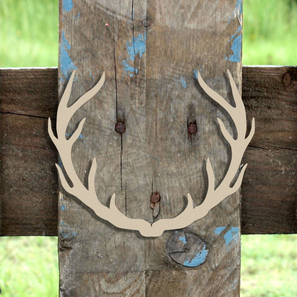 Wide Antlers  Wooden (MDF) Cutout - Unfinished  DIY Craft