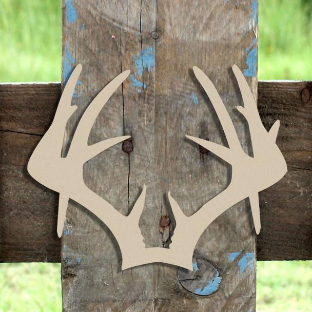 Droptine Antlers  Wooden (MDF) Cutout - Unfinished  DIY Craft