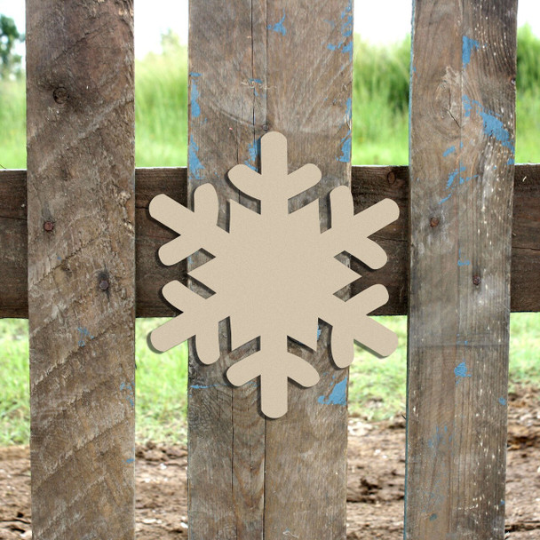 Snowflake 2 Unfinished Cutout Wooden Shape