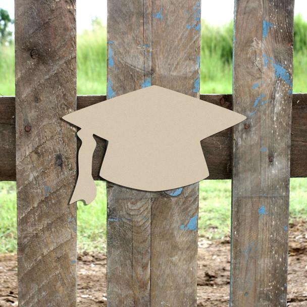 Graduation Cap Unfinished Cutout