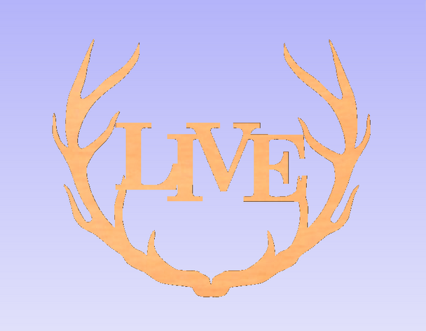 Wide Antler Block Live Unfinished Cutout, Wooden Shape, MDF DIY Craft