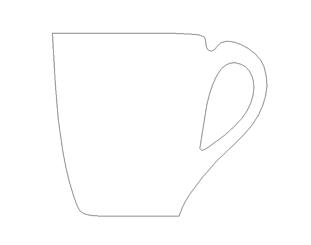 Coffee Cup Unfinished Cutout, Wooden Shape, Paintable Wooden MDF DIY