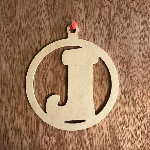 Christmas Ornament With Stocking Shape Unfinished Cutout, Wood