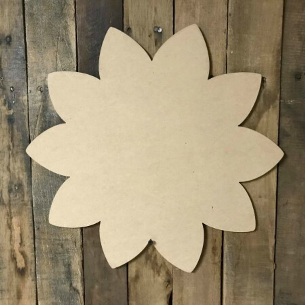 Sunflower Wooden Shape Paintable Wooden MDF