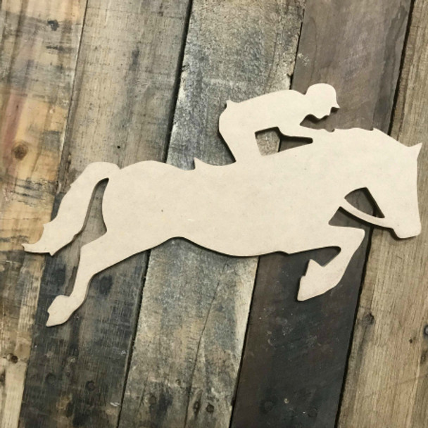 Horse Running Unpainted Unfinished Wooden Craft Decor