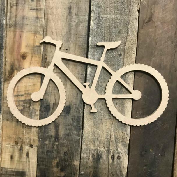 Mountain Bike Unfinished Wood Sport Craft Shape
