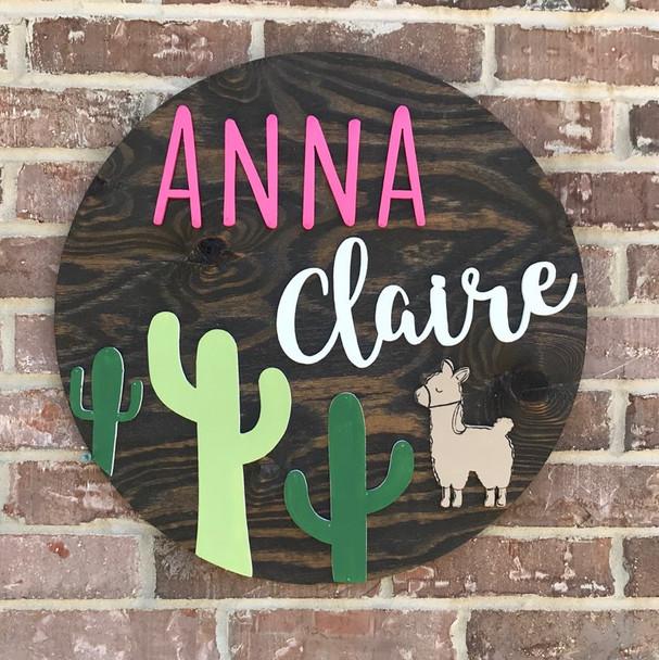 "22"" Pine Circle Nursery Girl Name Sign Kit 7"