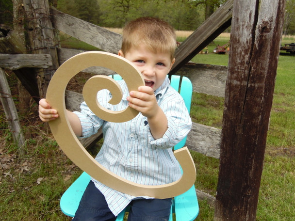 Custom Made Wooden Letters Wooden Initial (C) Curlz Craft Wood Letters