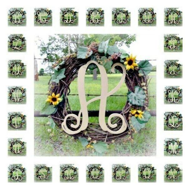 Vine Wooden Letters Whole Alphabet