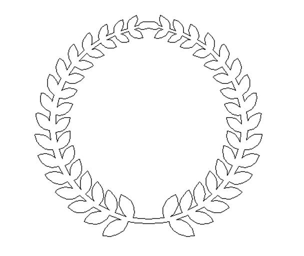 Roman Wreath - Plain No words Unfinished Cutout MDF