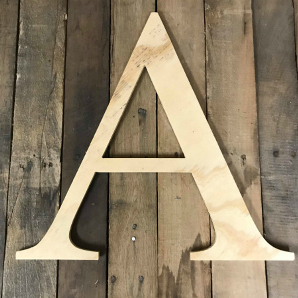 Wooden Pine Letters, Unfinished Wood Letter, DIY Times Font